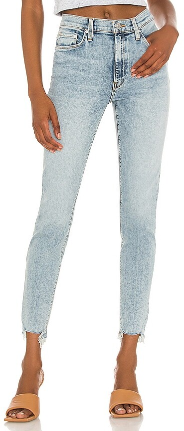 Bnwt NEXT Super Skinny High Rise Big Genou Rip Raw ourlets Jeans 8 12 L long