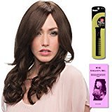 Liliana (Human Hair) by Estetica, Wig Galaxy Hair Loss Booklet & Magic Wig Styling Comb/Metal Pick Combo (Bundle - 3 Items), Color Chosen: R6