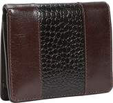 Leatherbay Wallet With Croc Accents,