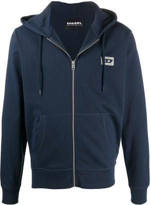 Diesel Brandon Mohawk logo zip-up hoodie