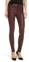 AG Jeans Farrah Leather Skinny Jeans