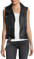 Sam Edelman Leather Moto-Style Vest