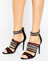 Forever Unique Adaline Patterned Heeled Sandal