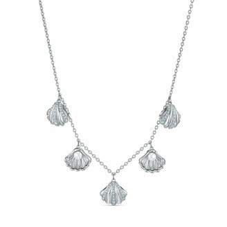 Swarovski Women's Shell Pearl Necklace Stunning Shell Necklace with Crystals Rhodium Plated from the Amazon Exclusive Shell Collection