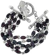 Stephen Dweck Sterling Silver & Ruby Multi-Row Bracelet
