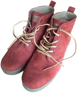 Bally Orange Suede Boots