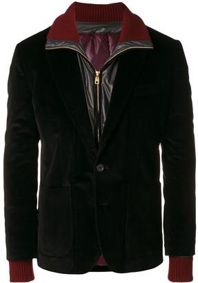 Dolce & Gabbana Padded Jacket Lined Corduroy Blazer
