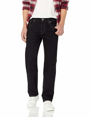 True Religion Men's Ricky Big T Straight Jean with Back Flap Pocket