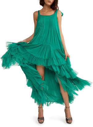 Cynthia Rowley Evelyn Tiered Ruffle High-Low Dress