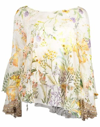 Camilla In the Hills of Tuscany Flared Layered Blouse