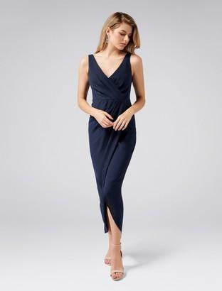 Forever New Victoria Petite Wrap Dress - Maritime Blue - 4