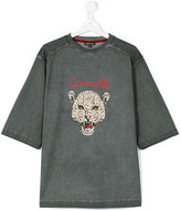 Roberto Cavalli teen over-dyed leopard motif t-shirt - kids - Cotton/Elastodiene - 14 yrs