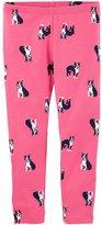 Osh Kosh Girls 4-12 French Bull Dog Print Leggings