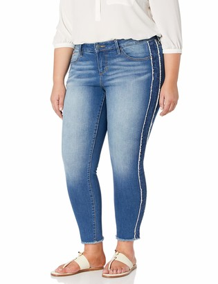 SLINK Jeans Women's Plus Size Tux Denim Ankle