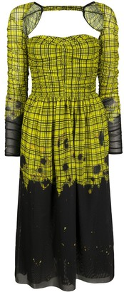 Rokh Flared Plaid Dress