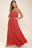 LuLu*s Love Runs High Red Maxi Dress