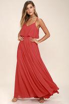 LuLu*s Love Runs High Red Maxi Dress