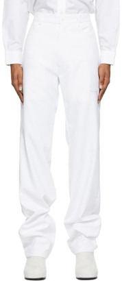Random Identities White High-Rise Five-Pocket Trousers