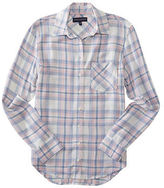 Aeropostale Womens Long Sleeve Plaid Woven Shirt