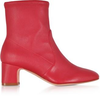 Stuart Weitzman Niki 60 Red Stretch Nappa Ankle Boots