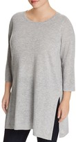 Eileen Fisher Plus Side-Slit Tunic Sweater