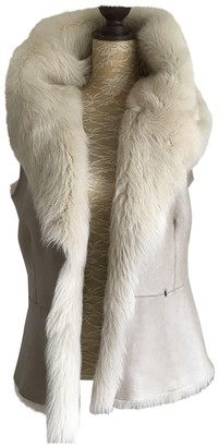Amanda Wakeley Beige Shearling Jacket for Women