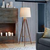 west elm Mid-Century Wood Tripod Floor Lamp - Walnut