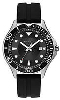 Caravelle Men's Black Silicone Strap Sport Watch