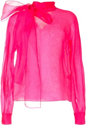 The 2Nd Skin Co. Organza High Neck Blouse