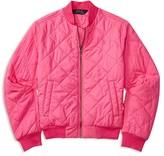 Ralph Lauren Girls' Diamond Quilted Baseball Jacket - Sizes S-XL