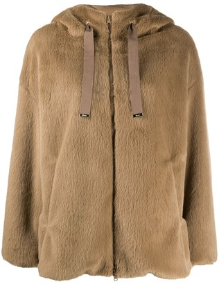 Herno Shearling Style Hooded Jacket