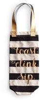 Rosanna 'Toast Clink Sip' Canvas Wine Tote - White