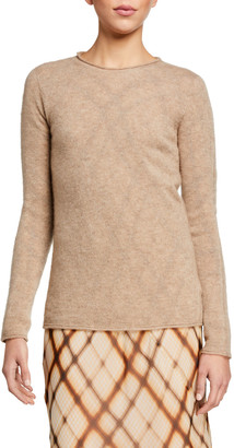 Agnona Cashmere-Silk Plush Loose Open Front Cardigan