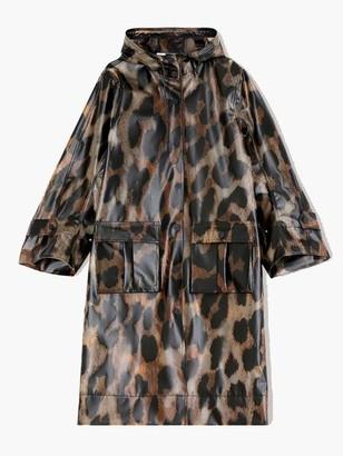 Ganni Thermoshell Jacket Maxi Leopard - 34
