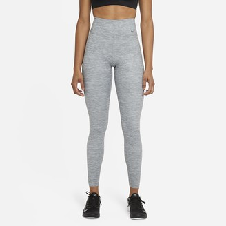 Nike Women's Heathered Mid-Rise Tights One Luxe