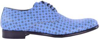 Dolce & Gabbana Blue Leather Lace ups