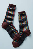 Anthropologie Rachel Comey Metallic Striped Crew Socks