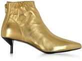 3.1 Phillip Lim Blitz Gold Metallic Leather Kitten Heel Booties