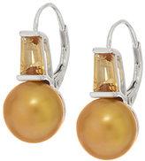 Honora As Is Cultured Pearl 9.5mm Gemstone Sterling Drop Earrings