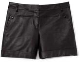 Tibi Leather Paneled Short