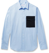 Ami Contrast-Trimmed Cotton-Poplin Shirt