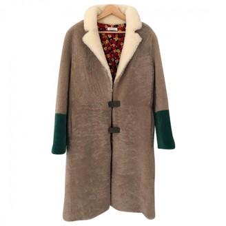 Saks Potts Multicolour Shearling Coat for Women
