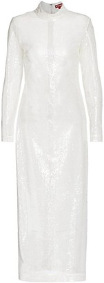 STAUD Liza Sequin Mock-Neck Dress