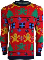 Noroze Mens Unisex Womens Gingerbread man Knitted Christmas Jumper