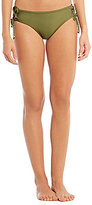 Gianni Bini Solid Lace-Up Sides Mid Waist Bottom