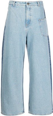 McQ Swallow Mid Rise Wide-Leg Jeans