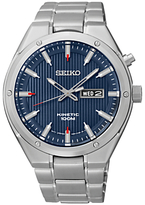 Seiko Smy149p1 Kinetic Bracelet Strap Watch, Silver/blue