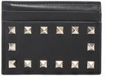 Valentino Rockstud Credit Card Holder in Black | FWRD