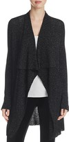 Eileen Fisher Metallic Ribbed Drape Front Cardigan