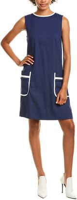 Marella Edera Linen-Blend Shift Dress